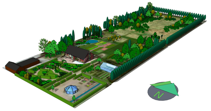 campi e grassi progettazione giardino